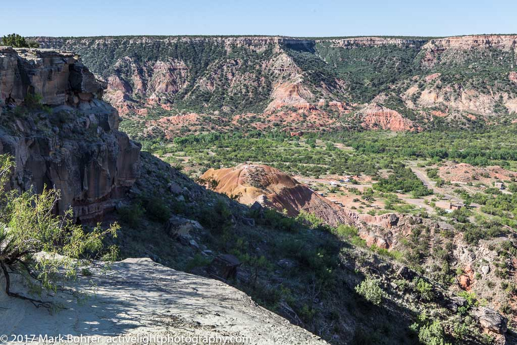 The bench - heading down, Palo Duro Canyon