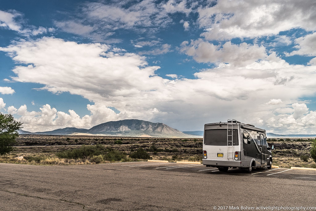 Little RV on the lava, Valley of Fires Recreation Area