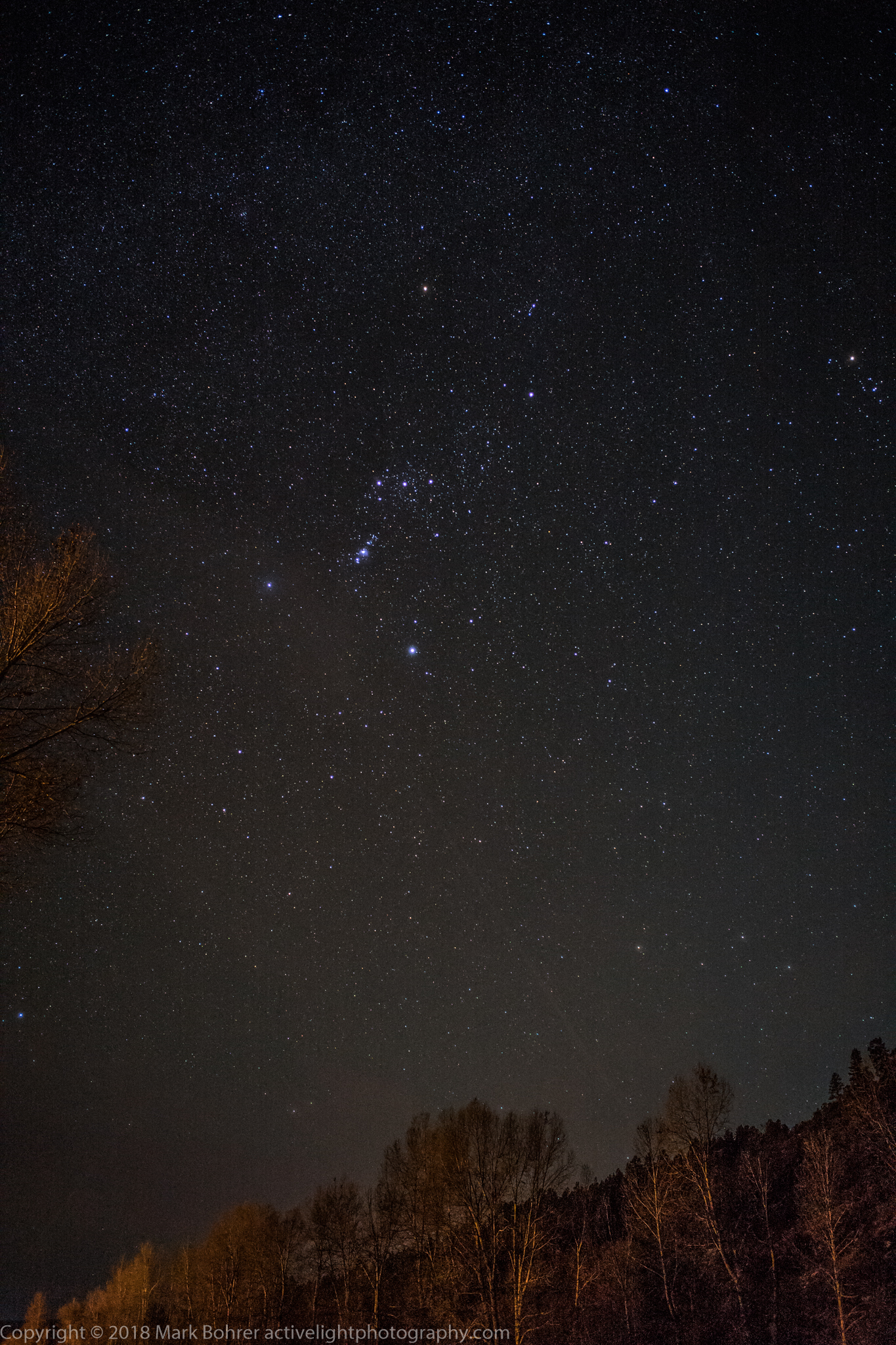 Orion in big-sky south view - Pagosa Riverside Campground