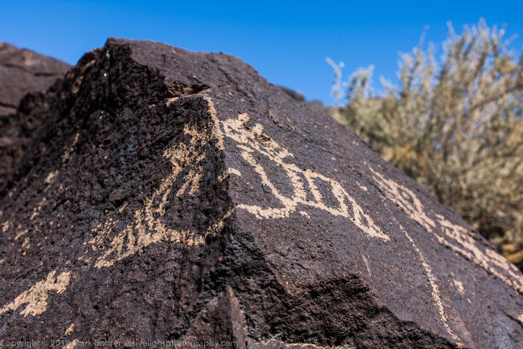 Clan mask, Piedras Marcadas, Petroglyph National Monument