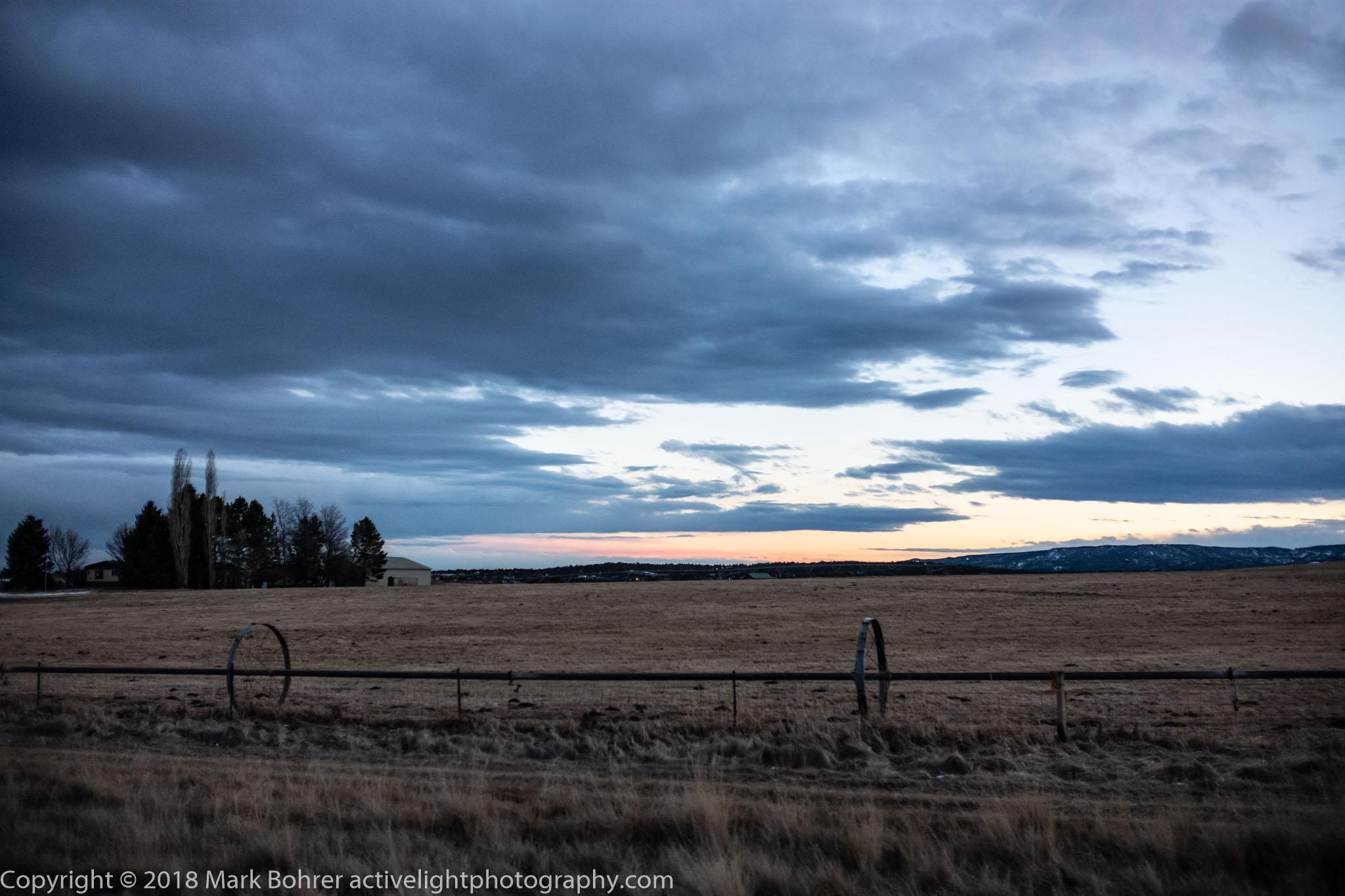 Winter field, Ignacio, Colorado