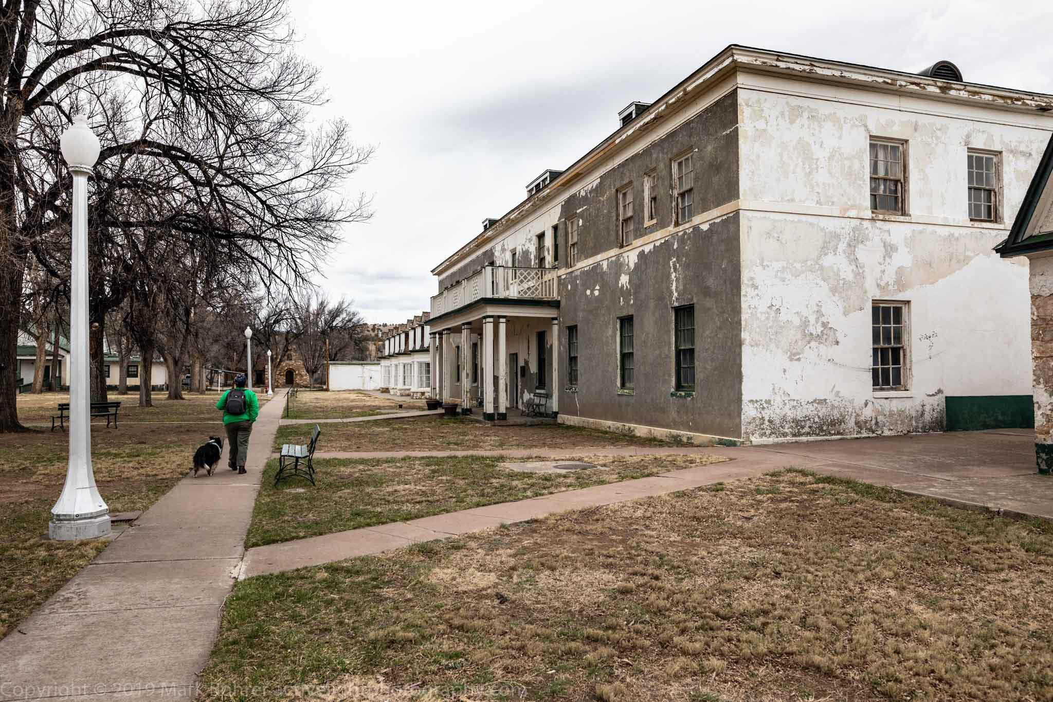 Barracks and promenade, Fort Stanton