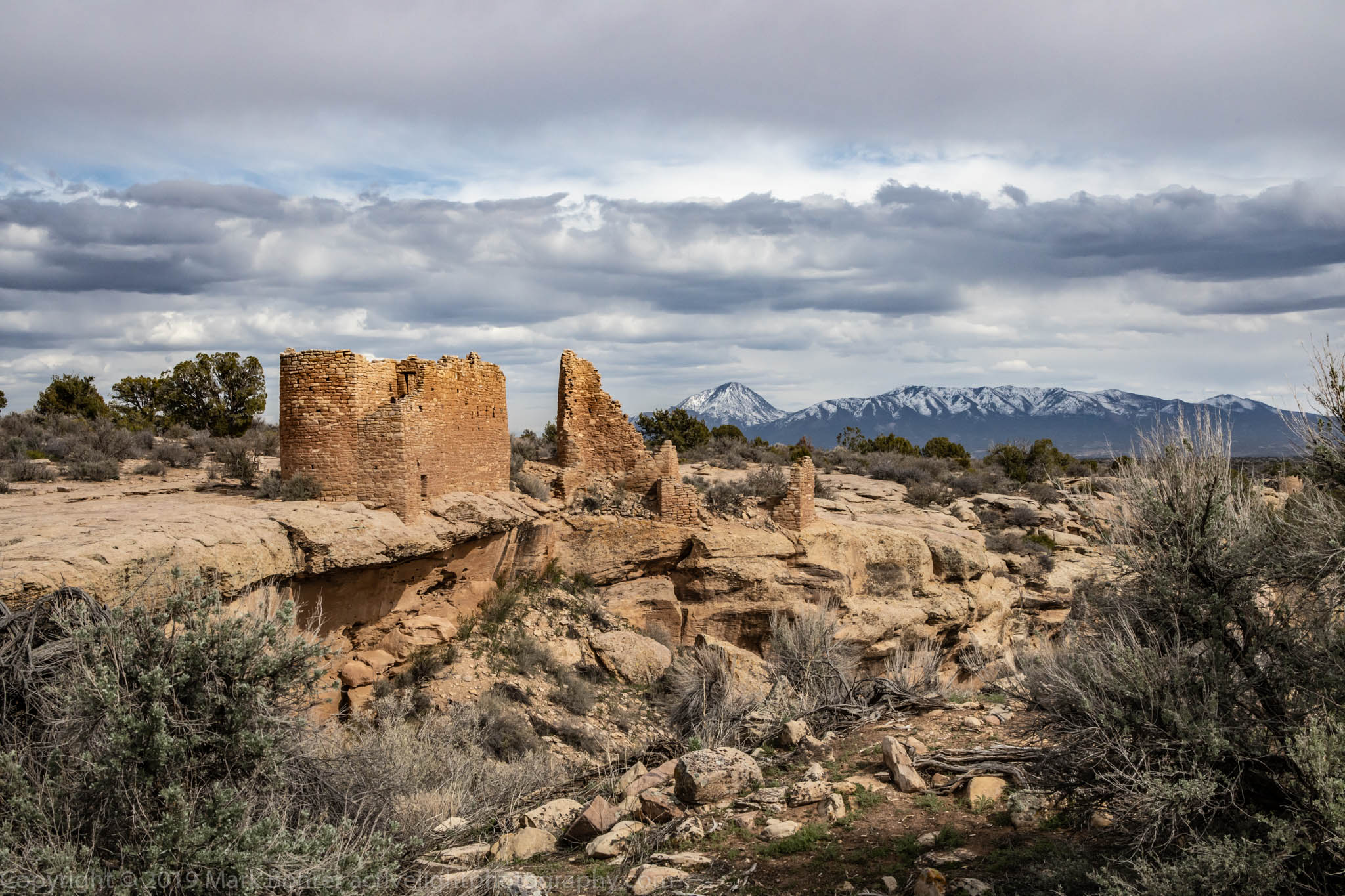 Hovenweep Castle and Sleeping Ute Mountain