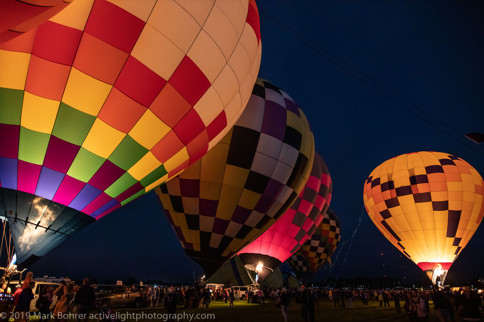 Flanmes On! - Albuquerque International Balloon Fiesta, Active Light Photography