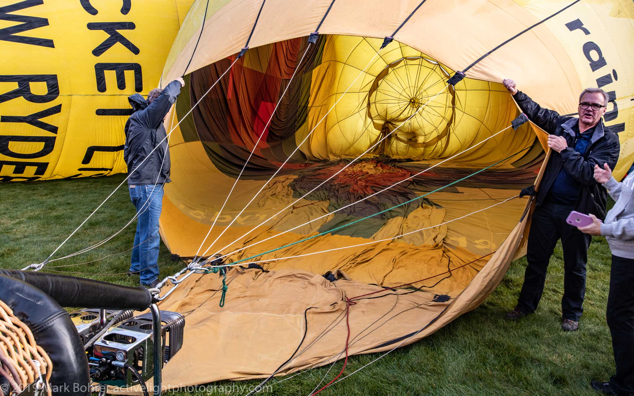 Cold inflation - Albuquerque International Balloon Fiesta, Active Light Photography